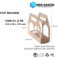 BOX DUS CUP HOLDER PAPER BAG GELAS KOPI TEH 21x80x19,4 cm KRAFT 290 gs