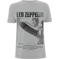 LED ZEPPELIN UK Tour '69 Grey Kaos Band Musik Hard Rock Impor Licensed