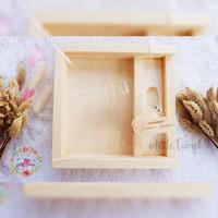 Flashdisk / usb kayu box memories 16gb free grafir