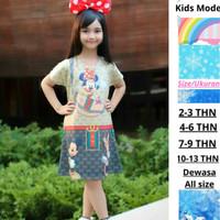 Dress Anak Perempuan Karakter Mickey Mouse Baju Anak Girl Mickey Minie