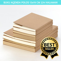 BUKU PLANNER POLOS AGENDA PUTIH DAN COKLAT PLANNER BULLET JOURNAL BUJO