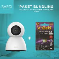 BARDI Smart Indoor PTZ IP Camera CCTV + Micro SD 128GB V GEN class10