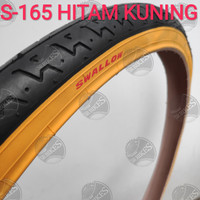 Ban Luar 26 x 1.75 Sepeda MTB Mini. HITAM KUNING. SWALLOW DELI TIRE - S-165 HI KUNING