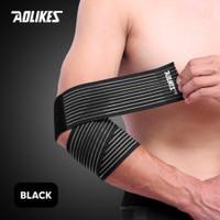 Aolikes 1546 Elbow Pad Brace Bandage - Pelindung Siku - Hitam