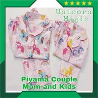 Piyama ibu dan anak couple part 2 katun jepang ori baju tidur wanita - tulis di kolom, kids,mom allsiz