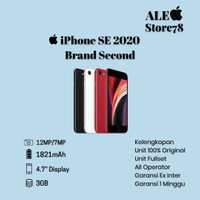 APPLE Iphone SE 2 64gb 2020 seken Batangan mulus like new