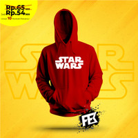 Sweter Kupluk Baju Hangat Anak Laki Laki / Cowok Motif Star Wars - STAR WARS Hitam, M