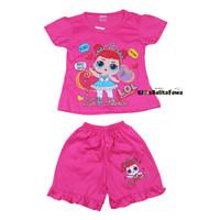 Setelan Shafa Anak 1-2 Tahun / Kaos Cewek Lengan Celana Pendek Baju