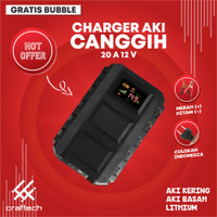 Charger Aki 12v 20A mobil motor kualitas bagus
