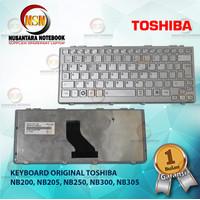 Keyboard Laptop Toshiba Satellite NB200 NB205 Series Silver