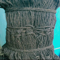 tali ijuk hitam pengikat anggrek, bambu, gazebo