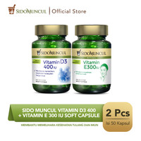 Sido Muncul Vitamin D3 400 + Vitamin E 300 IU Soft Capsule