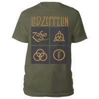 LED ZEPPELIN Gold Symbols Kaos Band Folk Blues Acid Hard Rock Official - S