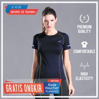 Baju Olahraga Wanita Premium Sportwear Atasan Olah Raga Cewek 12 Warna