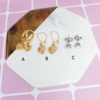 Anting Tusuk Xuping Model Love Batu Kecil Gold Silver - BE370