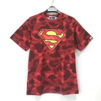 Bape X DC Superman Color Camo T-shirt Red 100% Original - M