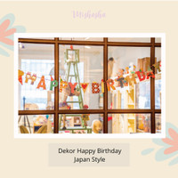 Banner Gantung Hiasan Dekorasi Ulang Tahun Anak & Dewasa Japan Style