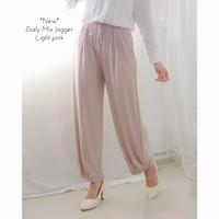 Celana gumi mix jogger celana panjang wanita