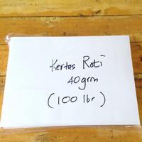 Kertas Roti / Wrapping Paper / Anti Minyak -100 lembar