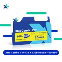 Kartu Perdana & Paket Xtra Combo VIP 5GB+10GB Double Youtube