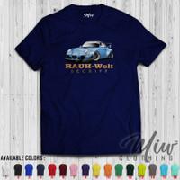 Kaos/Baju/Tshirt Rauh Welt Begriff Porsche Blue