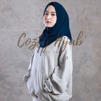 Hijab Sport Non Pet - Bahan Jersey Premium - Navy