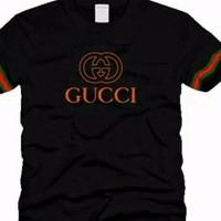 T-shirt kaos pria kaos GUCCI bagus warna stok ada size S M L XL
