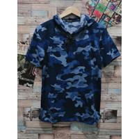 hoodie army biru baju atasan cowok hoodie pria hodie distro t shirt