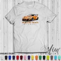 Kaos/Baju/Tshirt Rauh Welt Begriff Porsche Orange