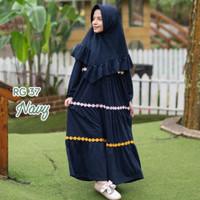Baju Gamis anak perempuan raggakids usia 2th-dewasa warna navy - M