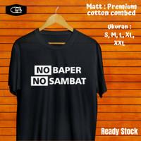 Kaos Distro Custom Polos Pria T shirt Hitam Combed Ori Murah Surabaya - Hitam, S
