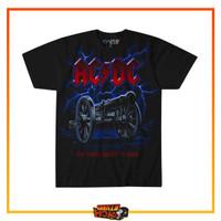 Kaos Baju T-shirt Hitam Band ACDC Original Impor Liquid Blue Lightning - M