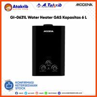 MODENA GAS WATER HEATER GI-0631L Kapasitas 6 Liter