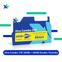 Kartu Perdana & Paket Xtra Combo VIP 20GB+40GB Double Youtube