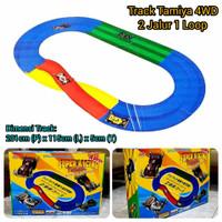 Track Tamiya 2 Jalur 1 Loop / Lintasan Arena Balap Mobil Tamiya 4WD