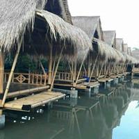 #saung bambu atap Alang Alang harga permeter persegi