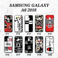 SAMSUNG GALAXY A8 2018  Soft Hard Case MAN GLOSS Casing BAPE
