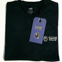 LEVI'S x BAPE GRAPHIC T-SHIRT (BLACK CORE) size: M 100% ori & BNIB