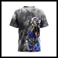 Baju Kaos Tshirt Pria Serial TV Anime Robot Gundam Custom 03&04