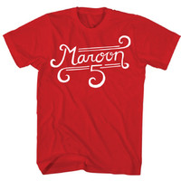 Baju Kaos Red Band MAROON 5 Original Rock Off Trade Tultex Curl Logo - XL