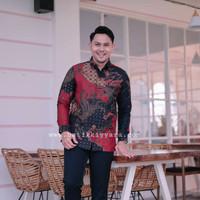 baju kemeja batik pria lengan panjang doby motif atbm sutra modern kyr