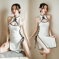 LI-91 white cheongsam baju cina lingerie baju tidur seksi cosplay