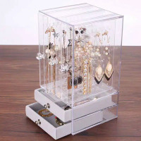 Rak Organizer Rak Perhiasan Akrilik Rak Anting Kalung Cincin Gelang