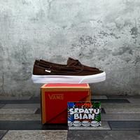 Sepatu Vans Zapato Brown White Coklat Putih Size 36-44