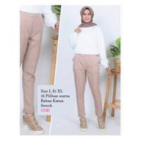 Baggy Pants-Celana panjang wanita/Santai-Katun Strech