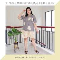 Baju Tidur Piyama Jumbo Wanita Katun Jepang GREET K-299 HK Size XL