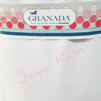 Bahan Bakal Kain seragam warna putih pekat polos merek Granada