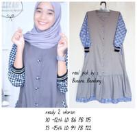 Baju anak tanggung / Kiran dress/Gamis anak remaja terbaru - grey, L