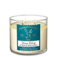 STRESS RELIEF AROMATHERAPY 3-Wick Candle Bath Body Works (BBW)