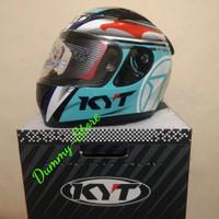 Helm Full Face KYT R10 AQUAMARINE VISOR FLAT